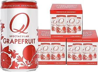 Q Drinks, Q Grapefruit, Spectacular Sparkling Grapefruit, Premium Mixer, 7.5 Ounce Slim Can (Pack of 12)