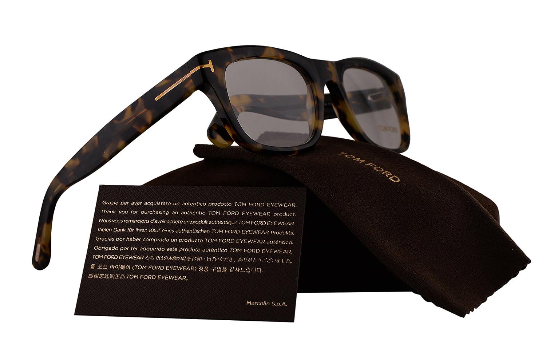 0f15c69c22f20 Amazon.com  Tom Ford FT5472 Eyeglasses 51-20-145 Havana w Demo Clear Lens  056 TF5472 FT 5472 TF 5472  Clothing
