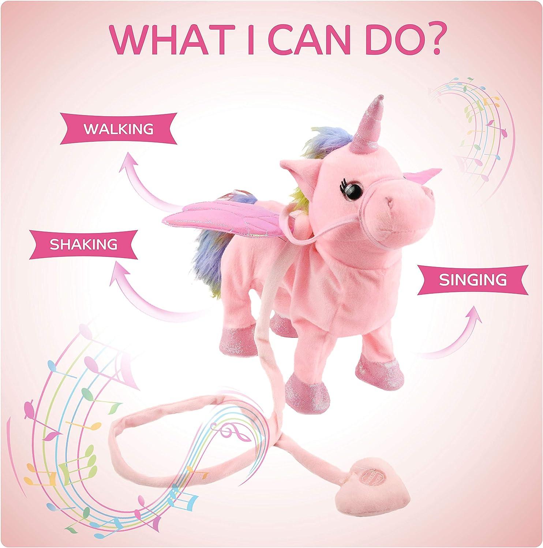 Amazon.com: Houwsbaby Walking Unicorn Singsing Stuffed Electronic Animate  Pegasus Interactive Cuddle Plush Toy Musical Space Unicorn Gift for Kids  Boys Girls Holiday Birthday, 10'' (Pink): Toys & Games