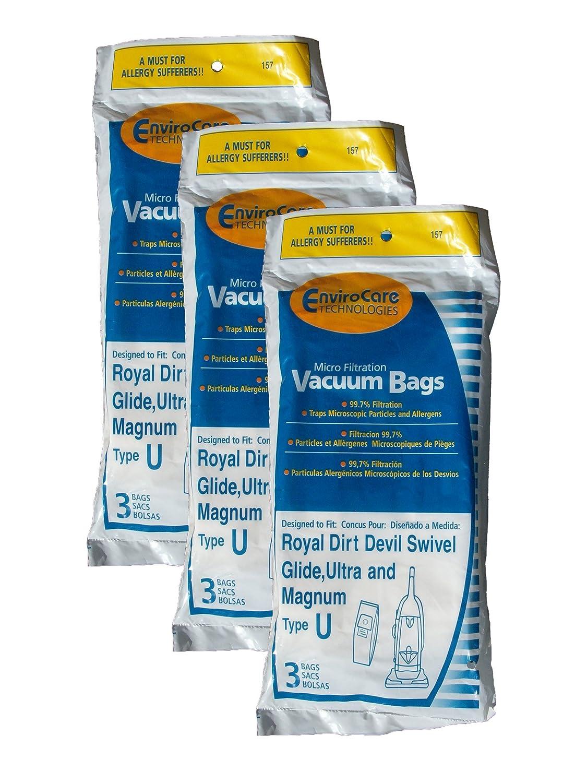 ロイヤルDirt Devil Type U MicroFiltration Upright Vacuum Cleanerバッグ ホワイト 157 3  B074XKGNG4