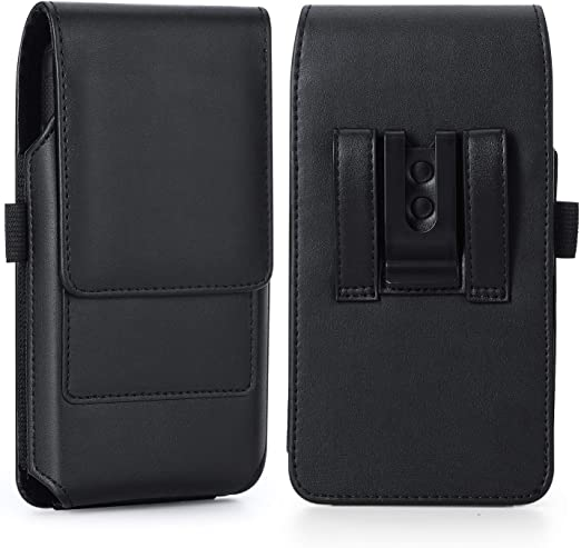 Galaxy S9 Plus Belt Clip Case BECPLT Galaxy Note 9 Holster Case Black Fit w//Thin Case on Leather Belt Holster Pouch Case with Card Holder for Samsung Galaxy S10 Plus//Galaxy S8 Plus//Moto E5 Plus