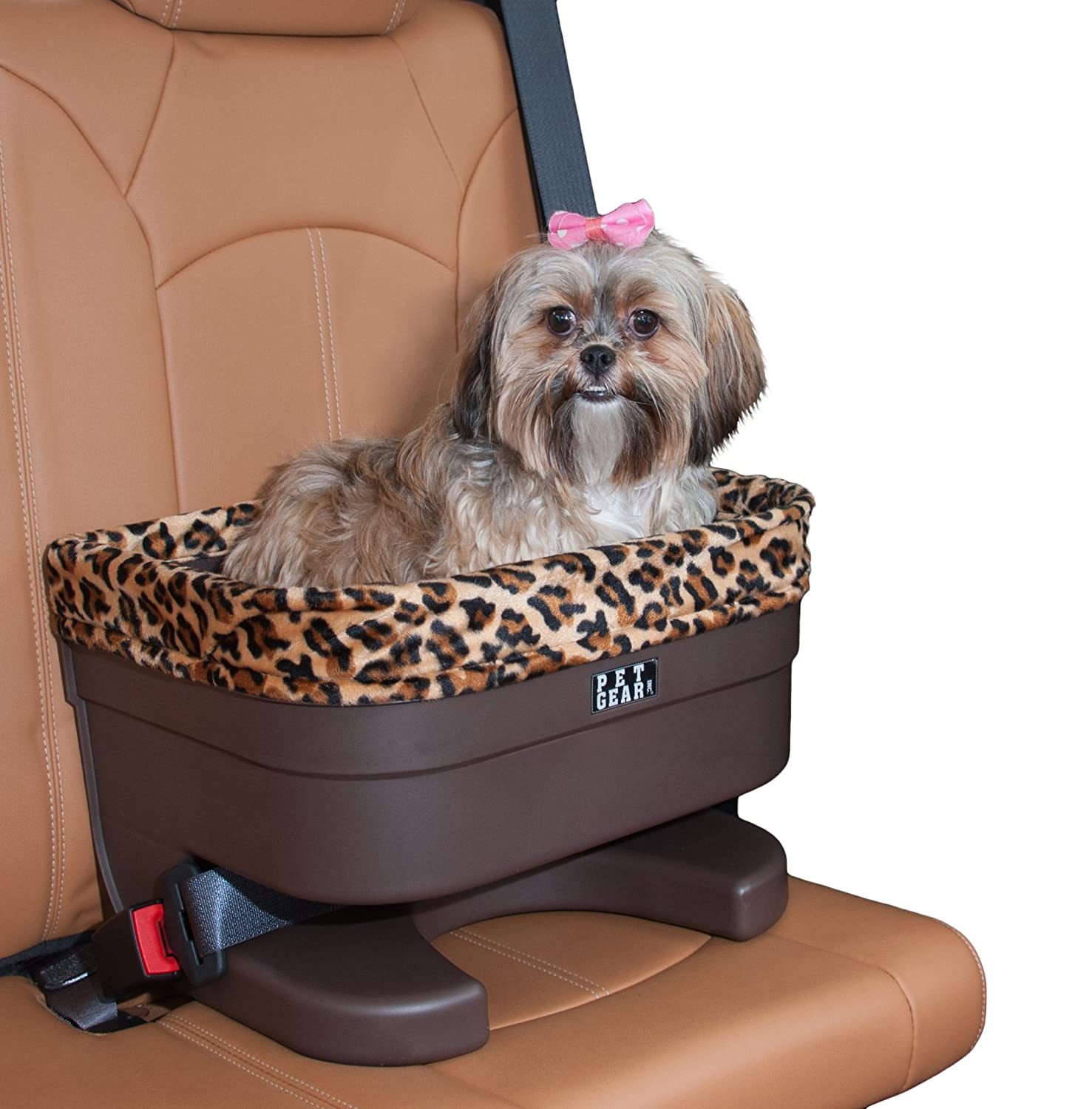Chocolate jaguar 16\ Chocolate jaguar 16\ Pet Gear Bucket Booster Car Seat for Dogs Cats, Removable Washable Comfort Pillow + Liner, Safety Tethers Included, Installs in Seconds, No Tools Required, 2 Sizes