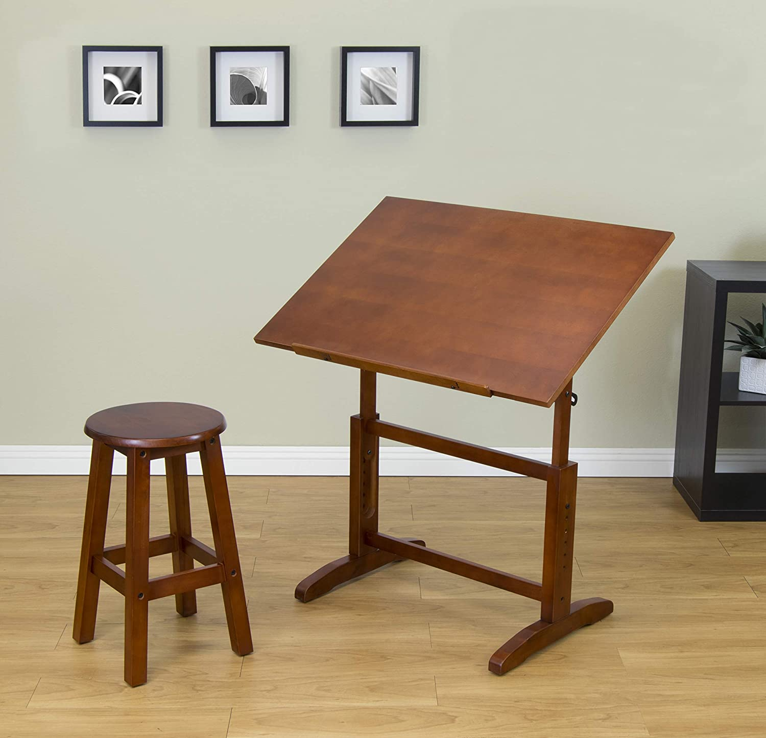 Studio Designs 13257 Creative Table and Stool Set, Walnut Inc.