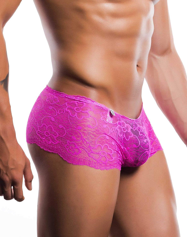 Mob Mens Lace Boxer Short Hot Pink