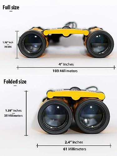 Binoculars 8×21 – Real kids adults binoculars for birds watching – compact binoculars for adults – children s binoculars – lightweight binoculars for traveling – small boys girls binoculars