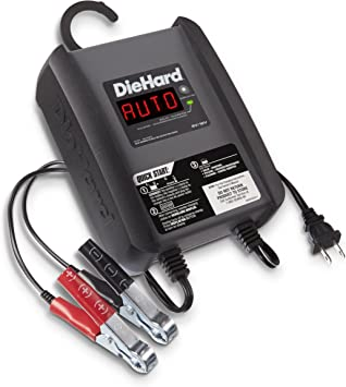 DieHard 71321 3 Amp 612V Compact Smart Battery Charger and 6A Maintainer