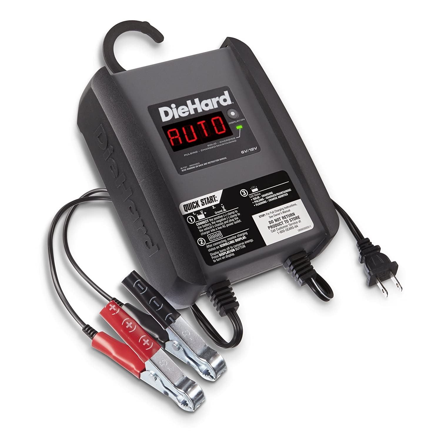 Amazon.com: DieHard 71321 Platinum Smart Battery Charger & Maintainer (6/12  Volt 6 Amp): Automotive