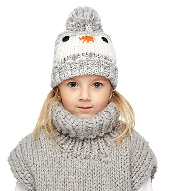 66539de680d Sumolux Baby Toddler Kintting Winter Hat Warm Knitted Penguin Pompoms Beanie  Hat