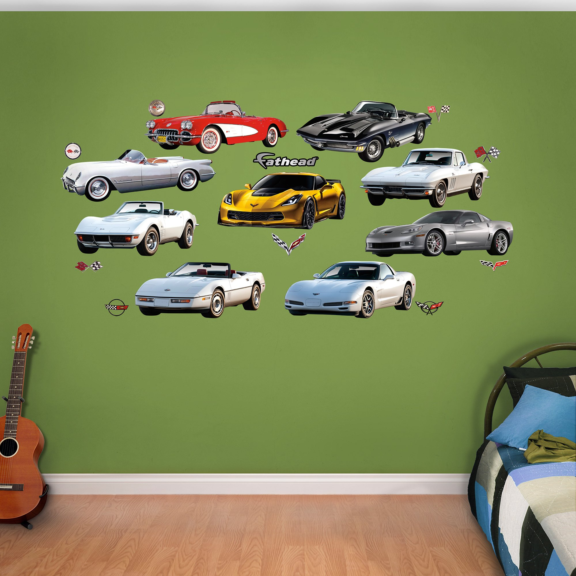 Fathead Corvette Generations Collection Real Decals by FATHEAD