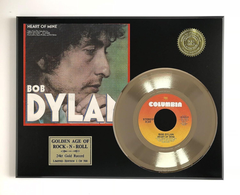 Bob Dylan - Heart Of Mine Ltd Edition Gold 45 Record Display