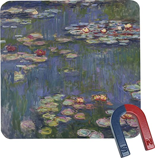 Agua lirios de Claude Monet cuadrado imán para nevera: Amazon.es ...