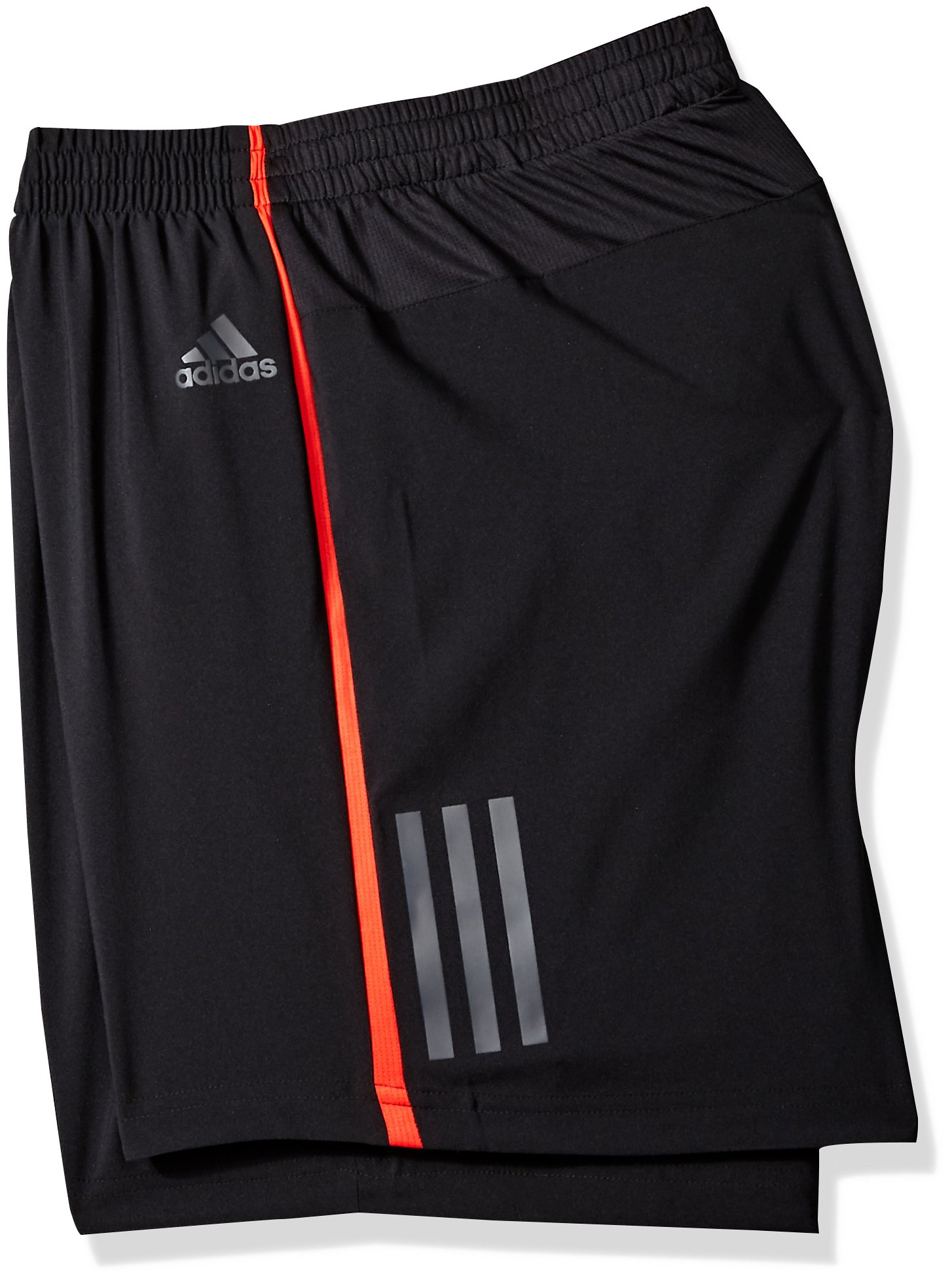 adidas Men's Running Response Shorts, Black/Hi-Res Red, X-Large/5'' by adidas (Image #2)