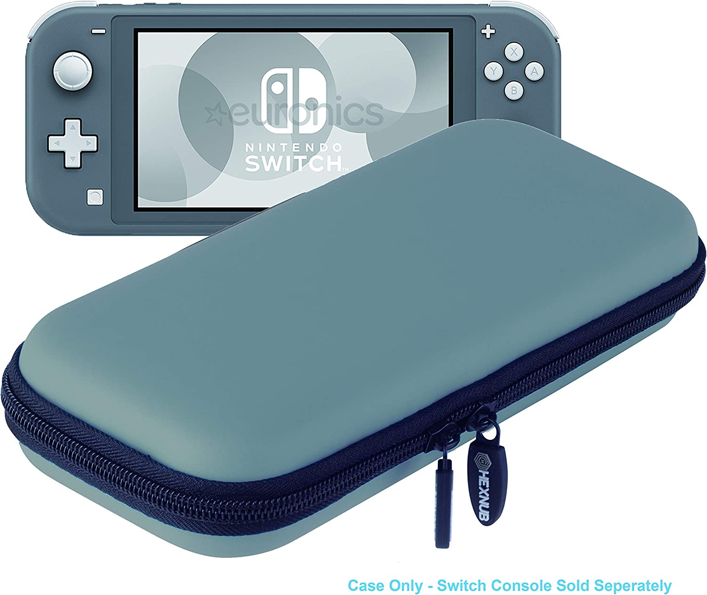 Hexnub Estuche Funda de Transporte para Consola Nintendo Switch Lite con Capacidad para 8 Juegos Cargador Accesorios Carcasa Protectora compacta Dura antigolpes (Gris): Amazon.es: Juguetes y juegos