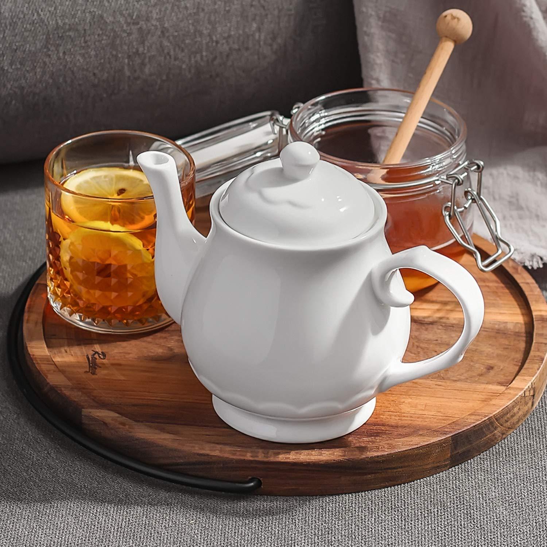 Th/éi/ère Dowan en porcelaine blanche 625 ml