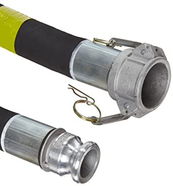 1-1//2 ID 1-1//2 Aluminum Cam And Groove Connection 20/' Length 1-1//2 ID CBS150-20CE-G 1-1//2 Aluminum Cam And Groove Connection 29mmHg Vacuum Rating 89 PSI Maximum Pressure 20 Length Goodyear EP Cold  Blue PVC Suction//Discharge Hose Assembly
