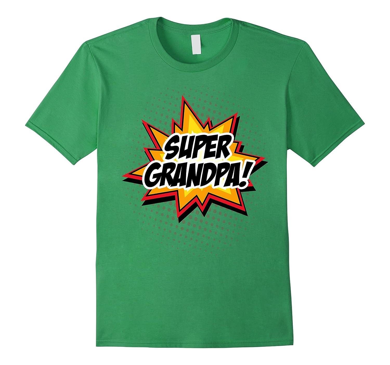Men's SUPER GRANDPA T-Shirt Funny Superhero Grandpa Gift Tee