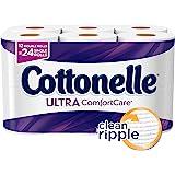 Cottonelle Ultra ComfortCare Bath Tissue, Double Roll Toilet Paper, 12 Count
