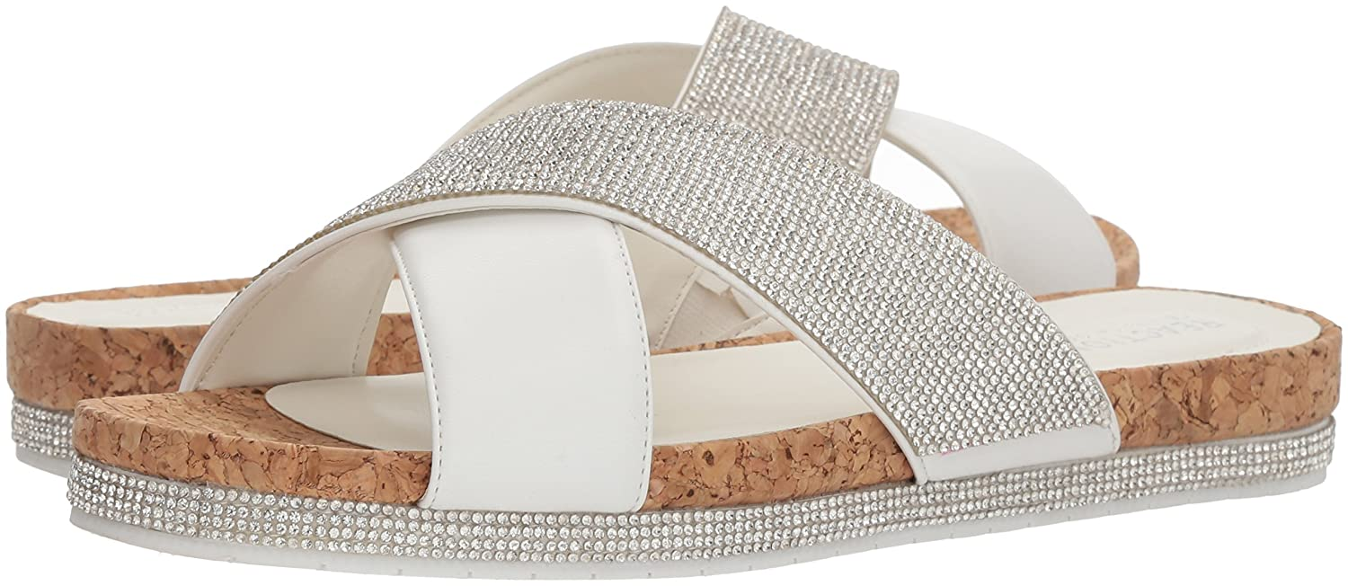 e47740240 Amazon.com  Kenneth Cole REACTION Women s Shore-ly Slip on Flat Slide Sandal  with X-Band Straps  Shoes
