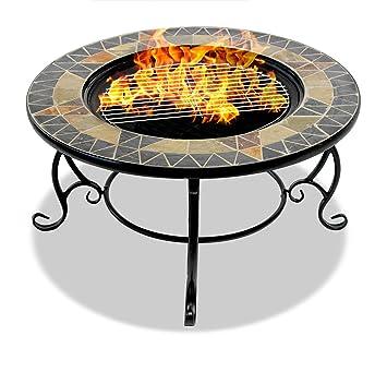 Centurion Soporta Fireology PALANGA Deluxe Garden & - Calentador de Patio para Hoguera, Mesa de café, Barbacoa, Cubo de Hielo – Prisma Natural Acabado ...