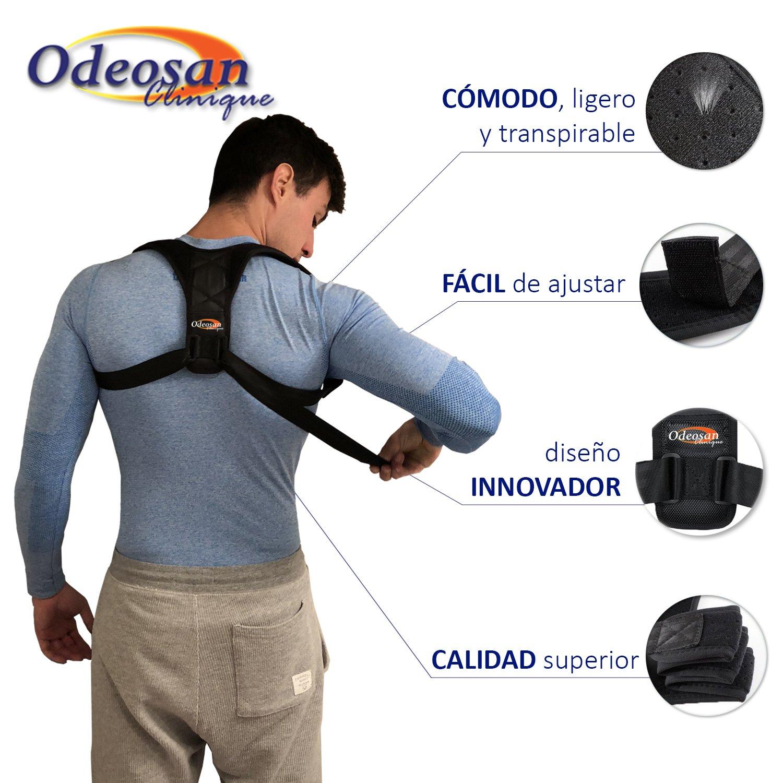 Odeosan Clinique Corrector de Postura para Espalda, Hombro y Clavícula Hombre y Mujer | Soporte Ajustable Unisex de Calidad para Mejorar Postura y ...