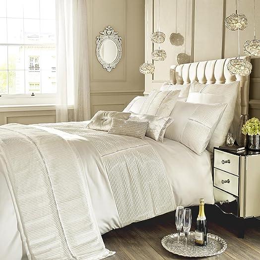 Kylie Minogue Oyster para cama doble plisado Diamante cama Eleanora, color crema
