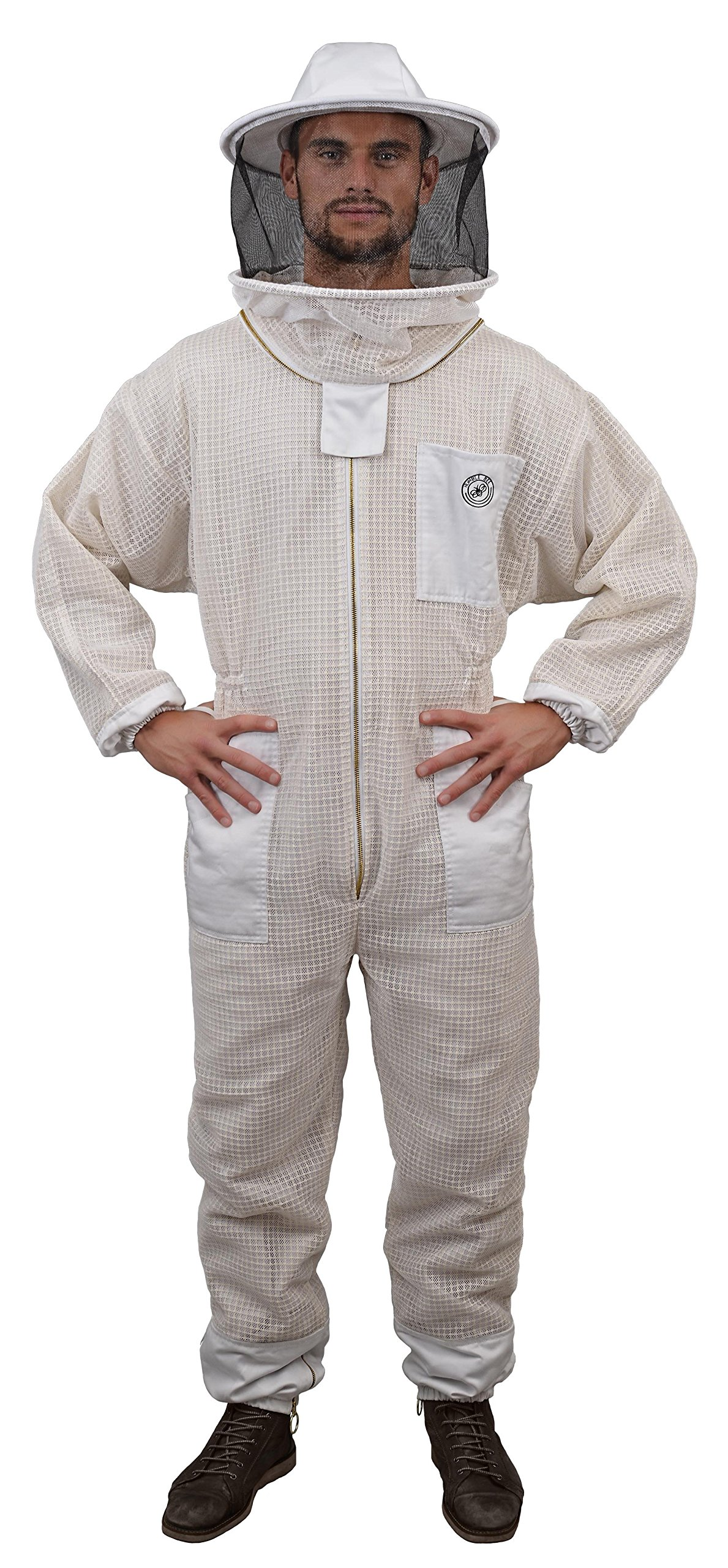 Humble Bee 420-L Aerated Beekeeping Suit with Round Veil (Large)