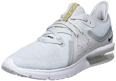 ffae2ab061 Nike Women's WMNS AIR MAX Sequent 3, Pure Platinum/Black-White, 5 US ...