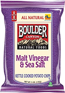 product image for Boulder Canyon Kettle Chips, Malt Vinegar and Sea Salt, 5-Ounce Bags (Pack of 12)