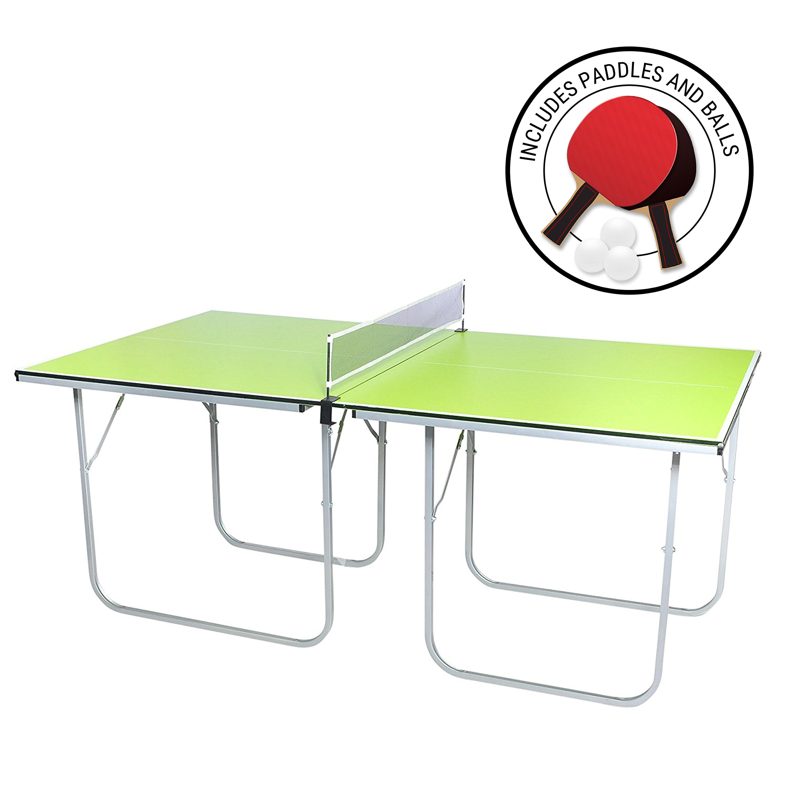 Milliard Mini-Pong Portable Tennis Table - 40 x 70 inches - Includes Net, Paddles, and Balls by Milliard