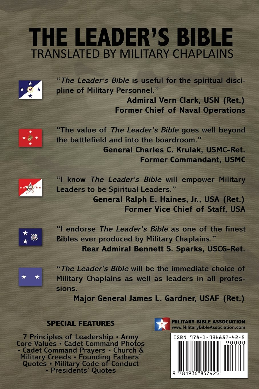 The Leaders Bible Us Army Cadet Command By Military Chaplains