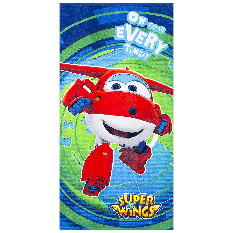 Blue Super Wings beach towel 70 x 140 cm