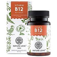 Der VERGLEICHSSIEGER 2018* Vitamin B12-1000µg. 180 Tabletten. Beide aktive Formen Adenosyl- & Methylcobalamin + Depot. Mit höchst bioverfügbarer Folsäure: 5-MTHF. Vegan, hochdosiert, Made in Germany