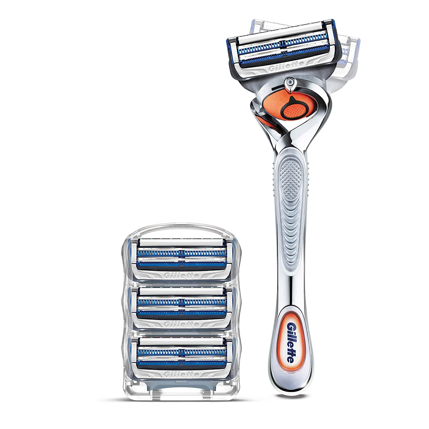 Gillette SkinGuard Men's Razor Flex Handle + 4 Blade Refills