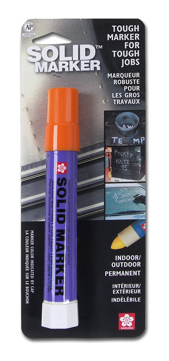 Sakura Solidified Paint Solid Marker, 14 to 392 Degrees F, White 46580