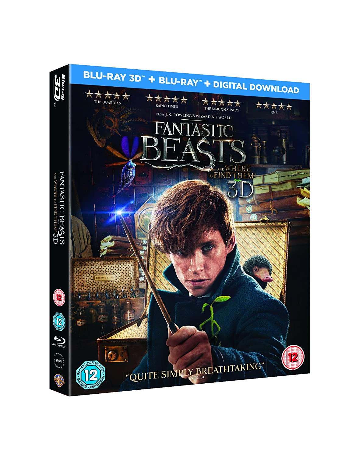 Amazon Com Fantastic Beasts And Where To Find Them Blu Ray 3d Blu Ray Digital Download 2016 Movies Tv