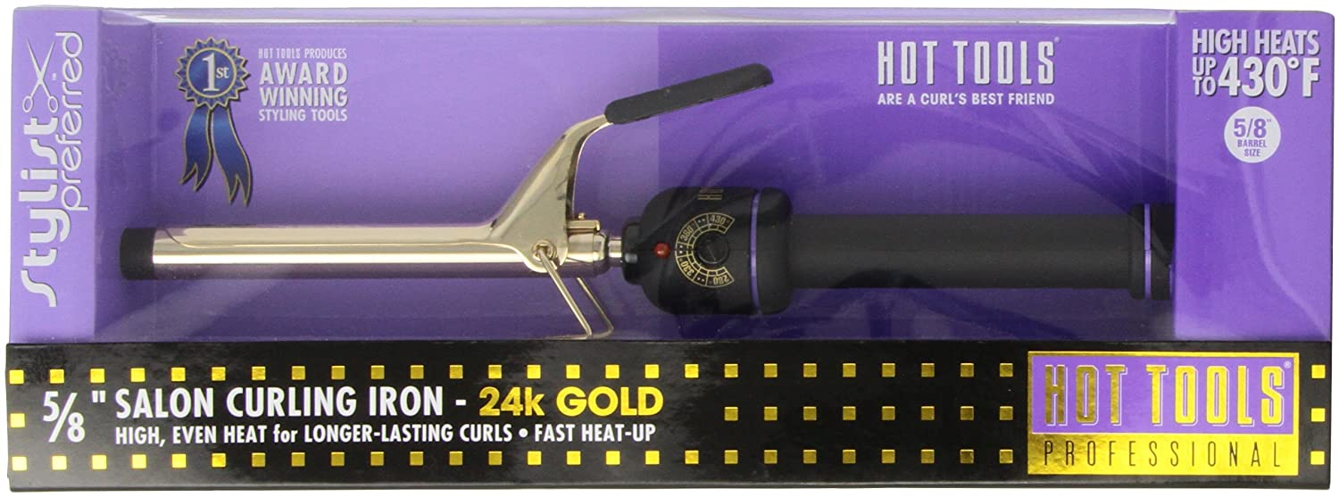 Hot Tools Professional Curling Iron Spring Grip 5/8 1109V3 HT1109