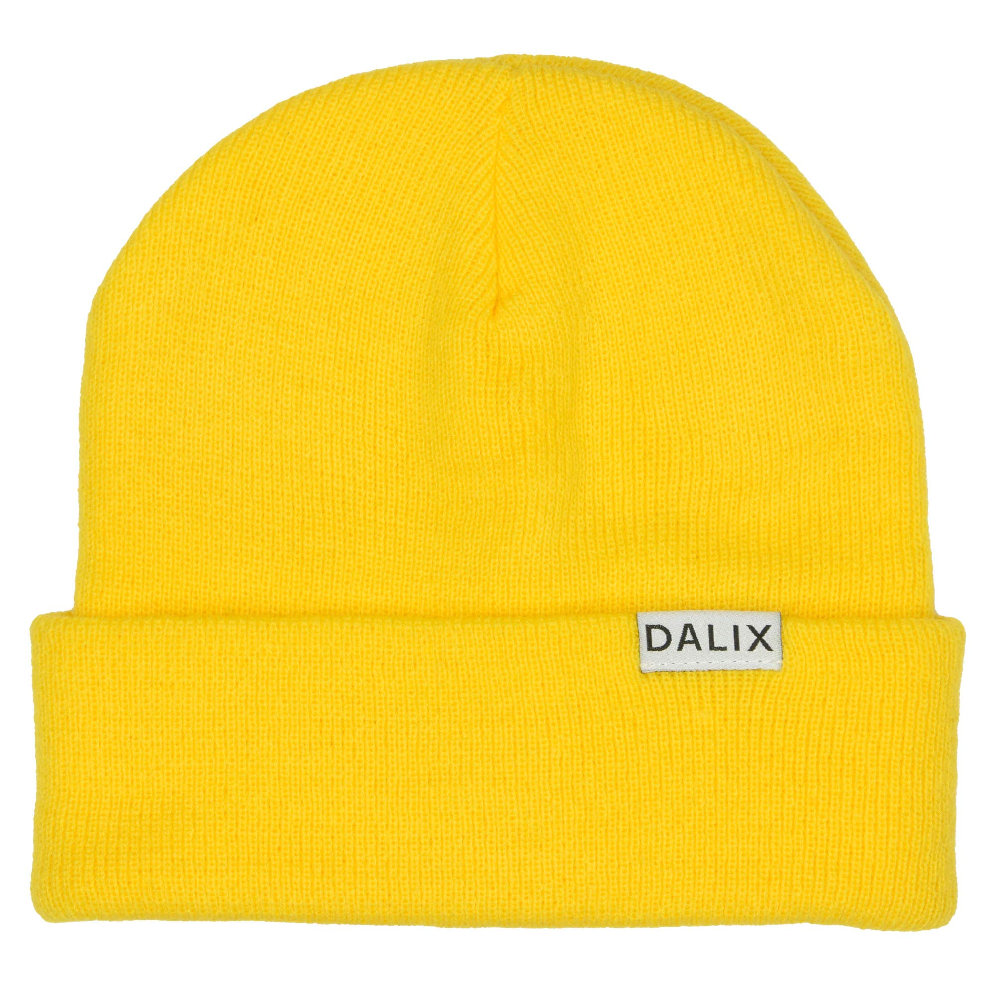 """DALIX Cuff Beanie Cap 12"""" Royal Red Black Navy Blue Orange Lime Green White Canary Yellow Pink Camo"""