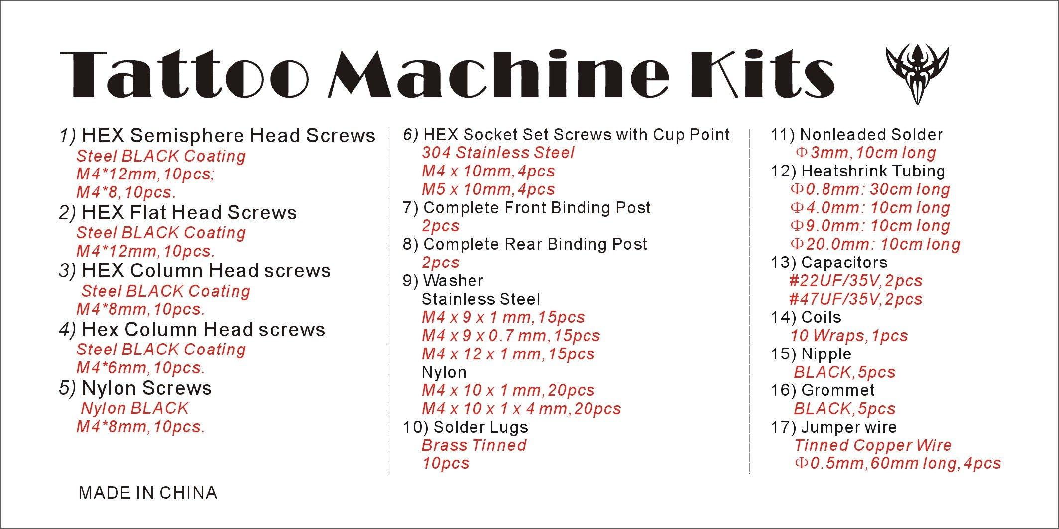 Tattoo Machine Rebuild & Repair Kit - 190+ Parts by Precision