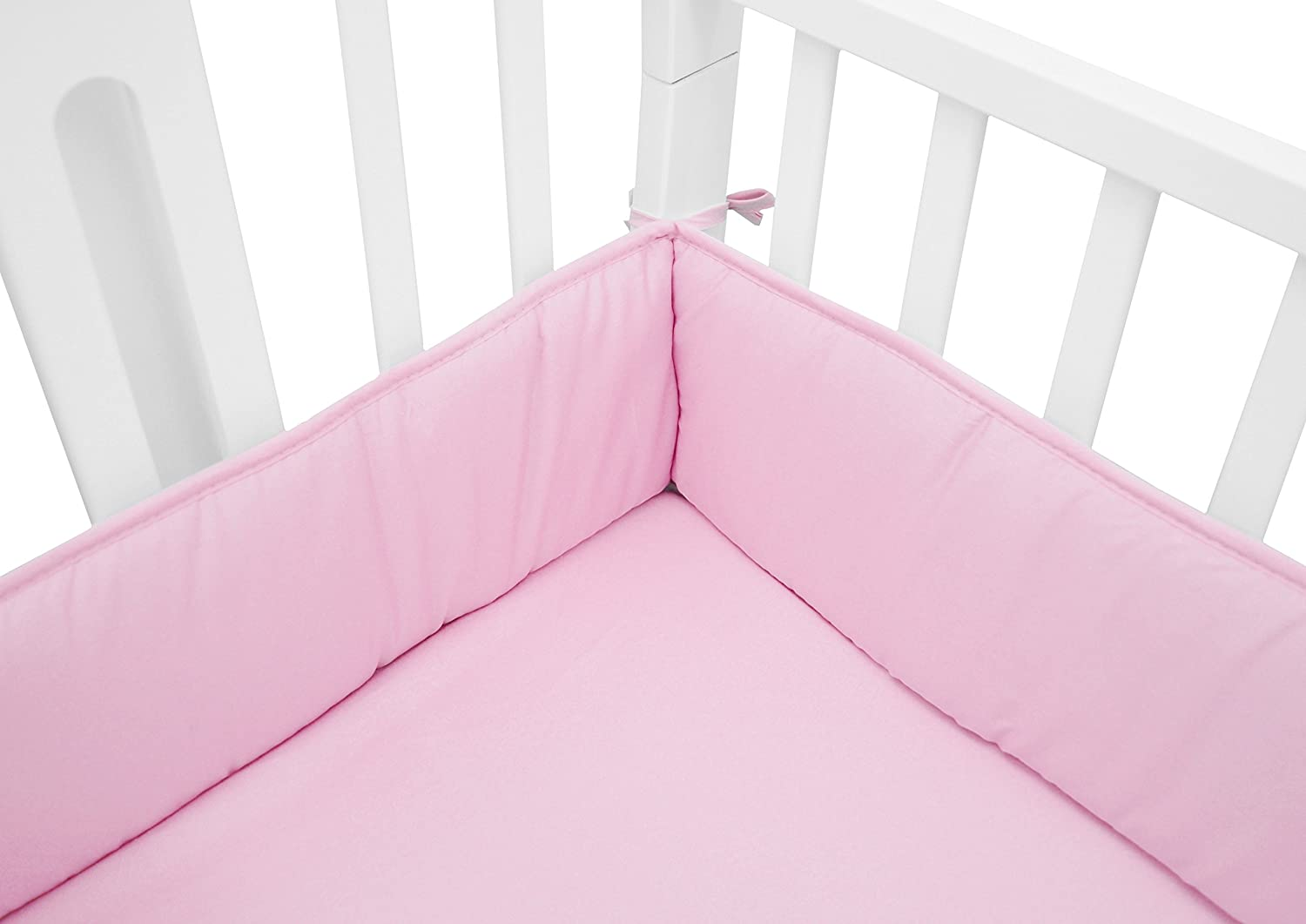 Not For Crib Heavenly Soft Minky Dot Portable And Mini-Crib Bumper Pink Puff