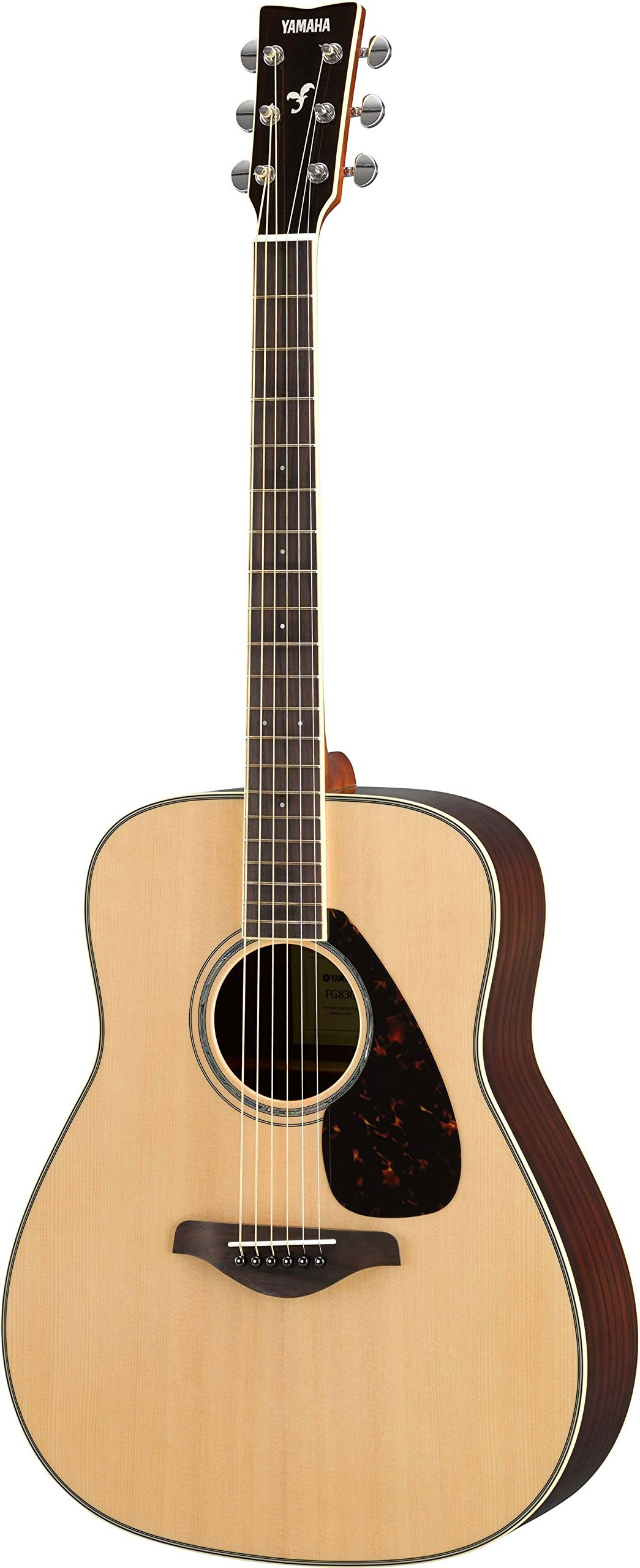 Yamaha Fg830 Solid Top Folk Guitar, Natural by YAMAHA