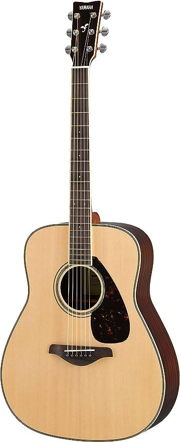 3581ea1fcc Amazon.com: Yamaha FG830 Solid Top Folk Guitar, Natural: Musical ...