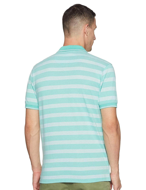 Aqua Slim Fit Half Sleeve T-Shirt For Men's