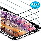 Beikell Protector Pantalla para iPhone X/XS, [4-Pack] Protector de Pantalla Vidrio Templado Premium, Dureza 9H Alta Definicion Anti-rasguños, Sin Burbujas y Fácil de Instalar