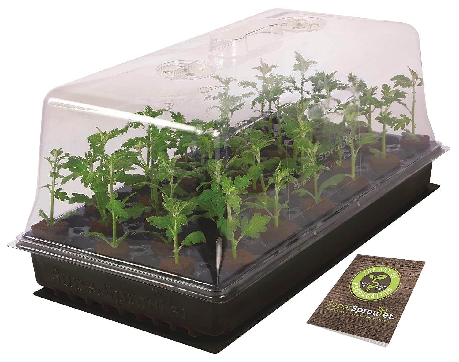 Super Sprouter Deluxe Propagation Kit w/ 7' Dome & T5 Light Sunlight Supply Inc. 726403
