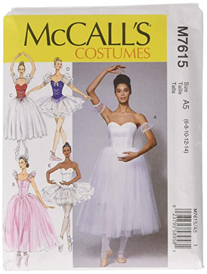 Amazon McCall's Pattern M40 A40 Misses' Ballet Costumes With Interesting Mccalls Pattern