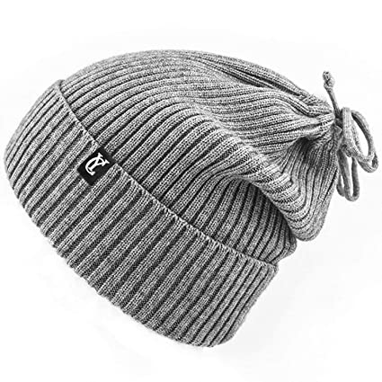 Amazon.com  Yobenki Cable Knit Beanie hat 4ba55f6370e