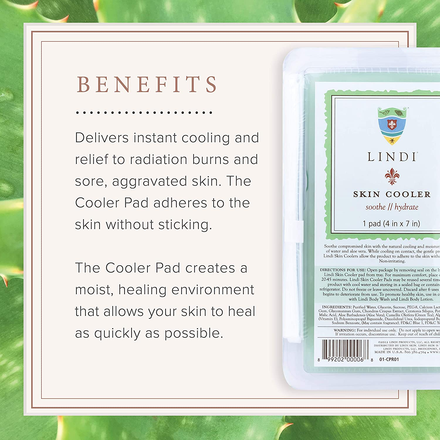 Lindi Skin: Cooler Pad - Cooling Hydro-Gel Formulated To Reduce Redness And Inflammation (1 Pack, 4x7 in.) : Body Skin Care Products : Beauty