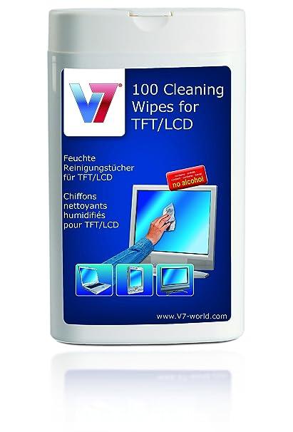 V7 VCL1522 - Paños húmedos para limpieza de pantallas LCD, TFT y plasma