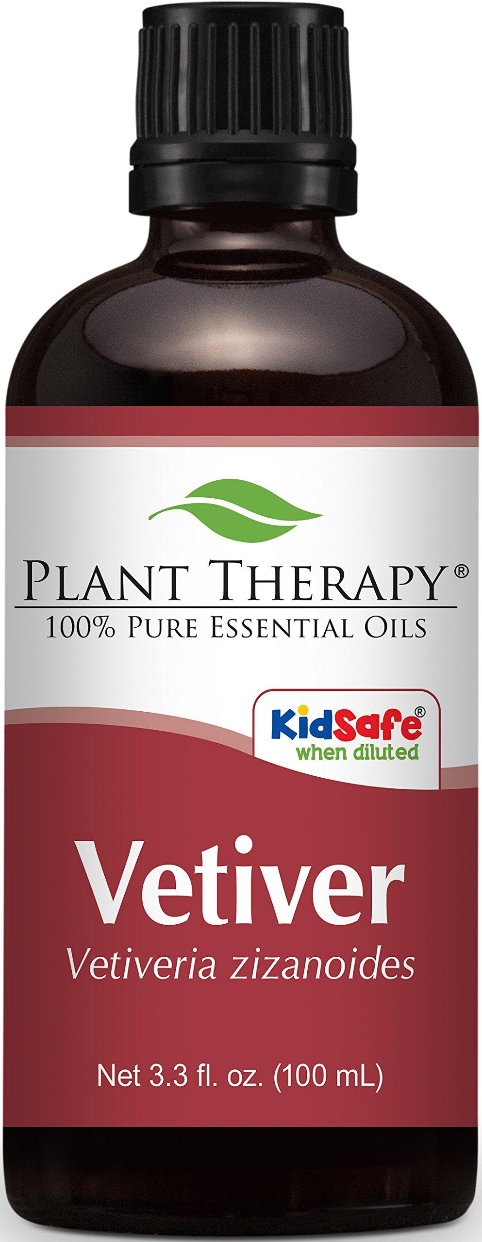 Plant Therapy Vetiver Essential Oil 100 mL (3.3 oz) 100% Pure, Undiluted, Therapeutic Grade