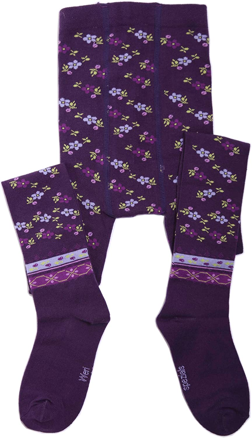 Weri Spezials Baby and Children Tights Ethno Purple